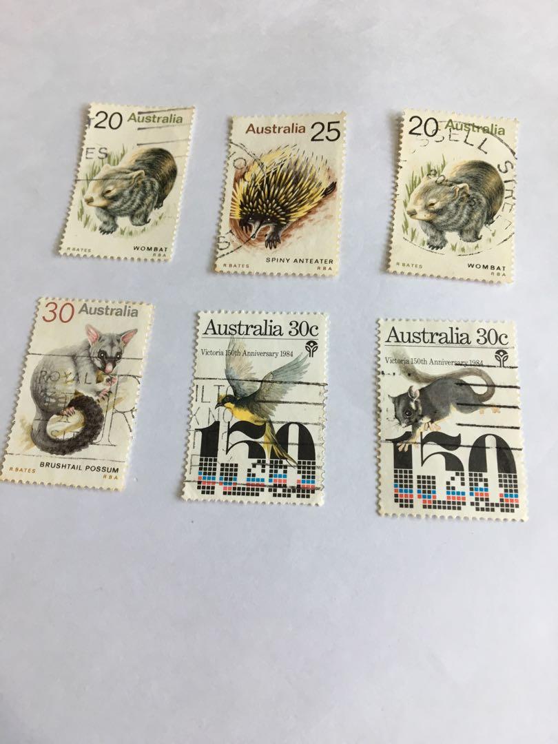 Australia 1980s Used Stamps x 6