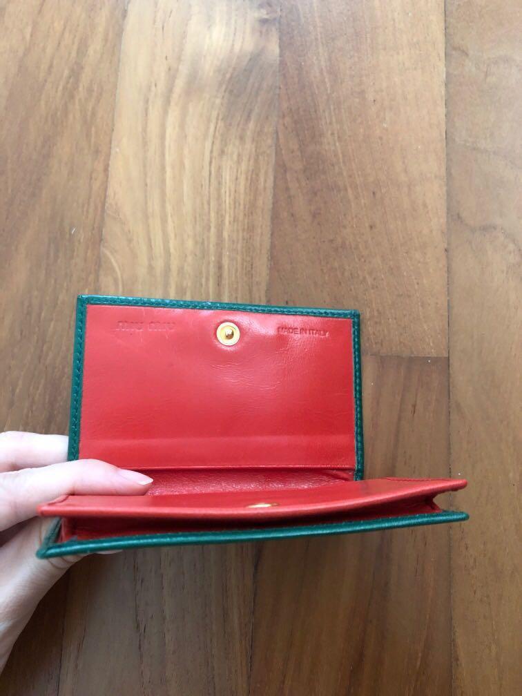 Authentic Miu Miu Card Holder