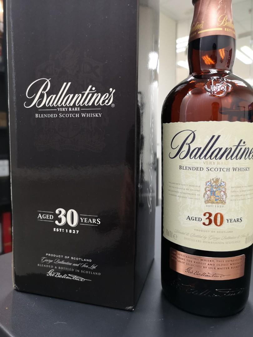 BALLANTINE'S 30 年 空樽木盒紙盒全套 靚仔