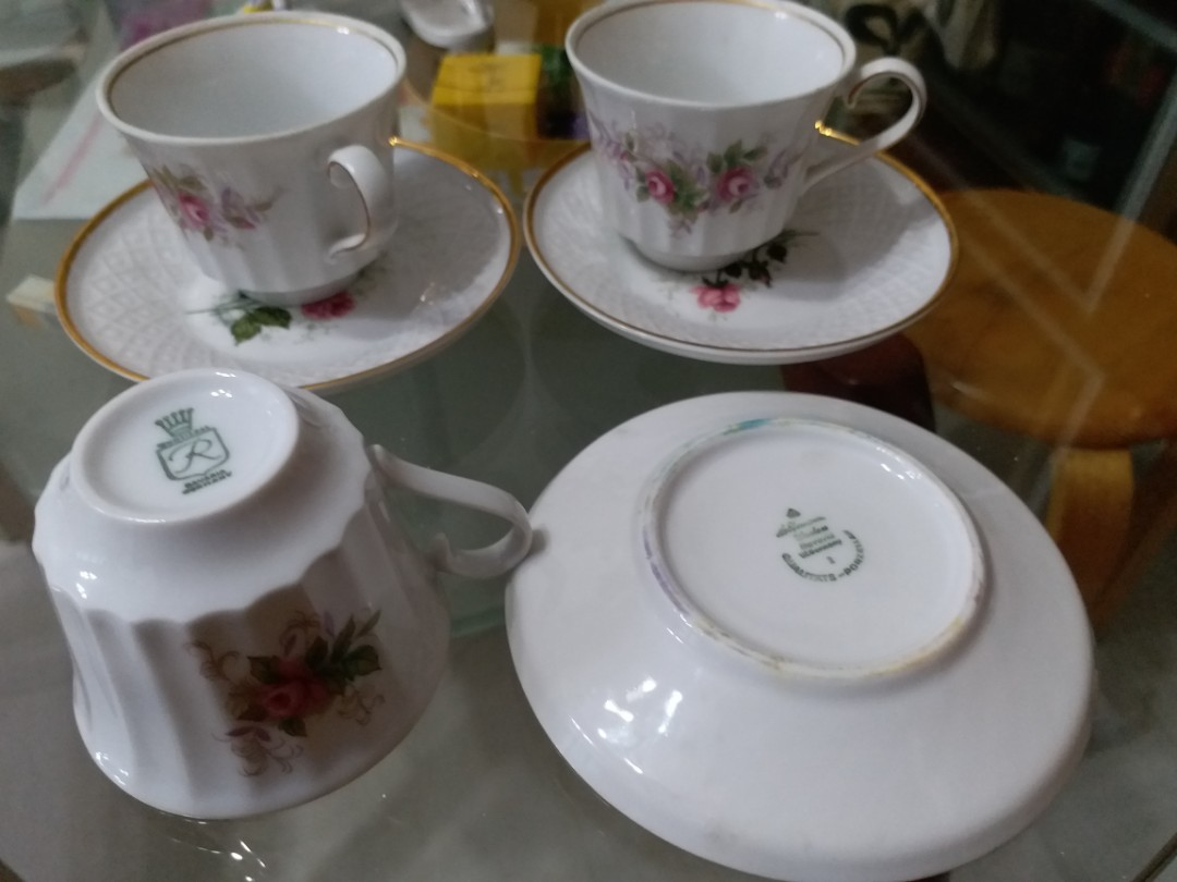 BAVARIA tea cup set (Made in Germany)
