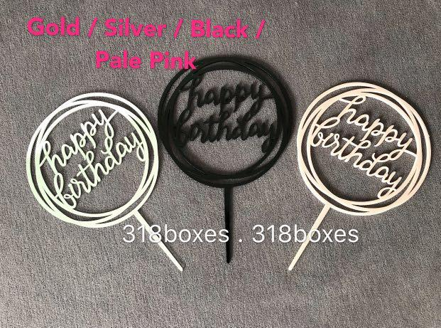 Birthday Cake Topper number 1 2 3 4 5 6 7 8 9 0 acrylic