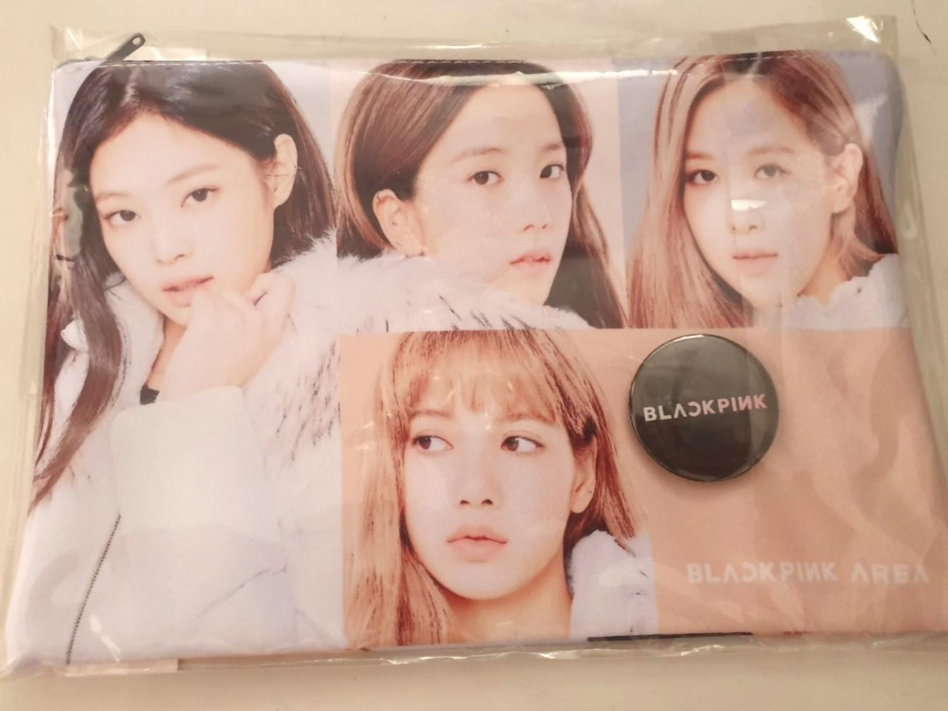 😊Blackpink Unofficial Pencil case (with badge) from Korea😜