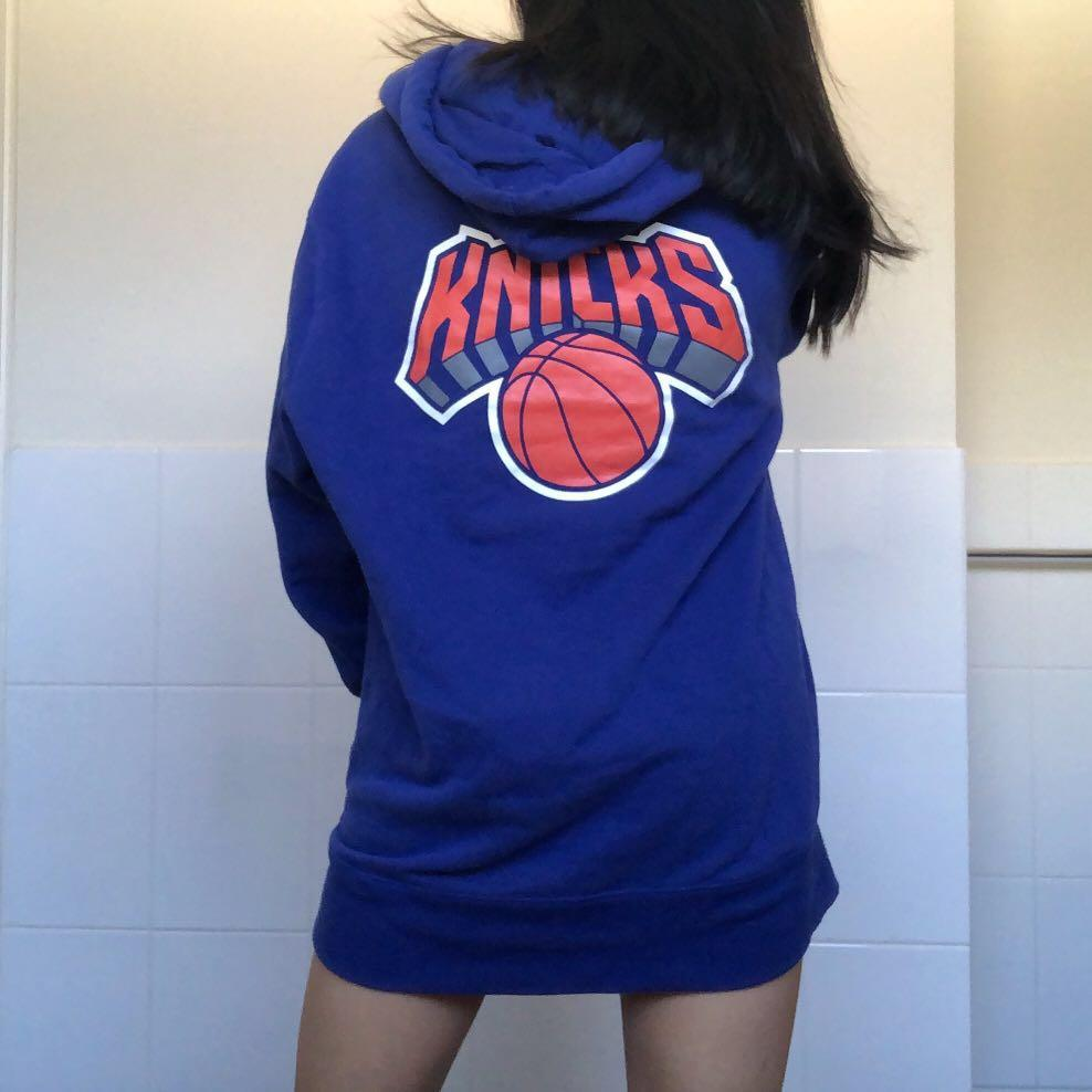 Blue Oversized Hoodie New York Knicks