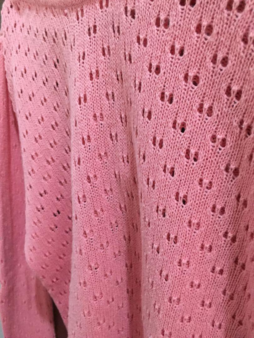 Cardigan Pink - FREE ONGKIR JABODETABEK