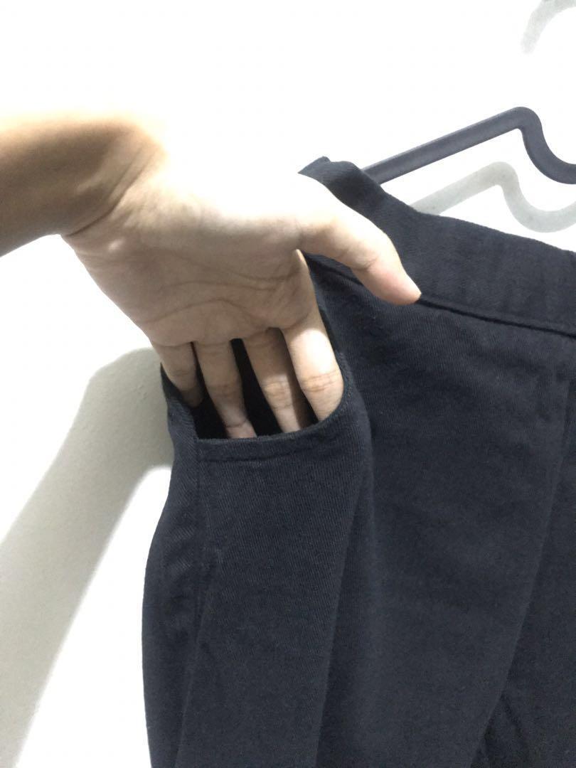 Celana kanvas (lembut) hitam