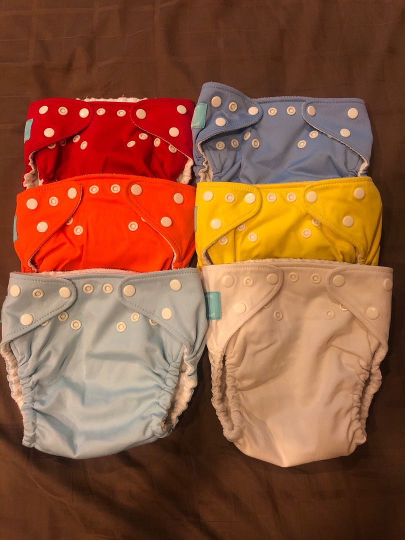 Bnip:reusable Bamboo Charcoal Nappies With Inserts And Wet Bag Fine Quality Baby Changing & Nappies