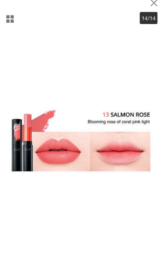 Clio Matte Lipstick Salmon Rose