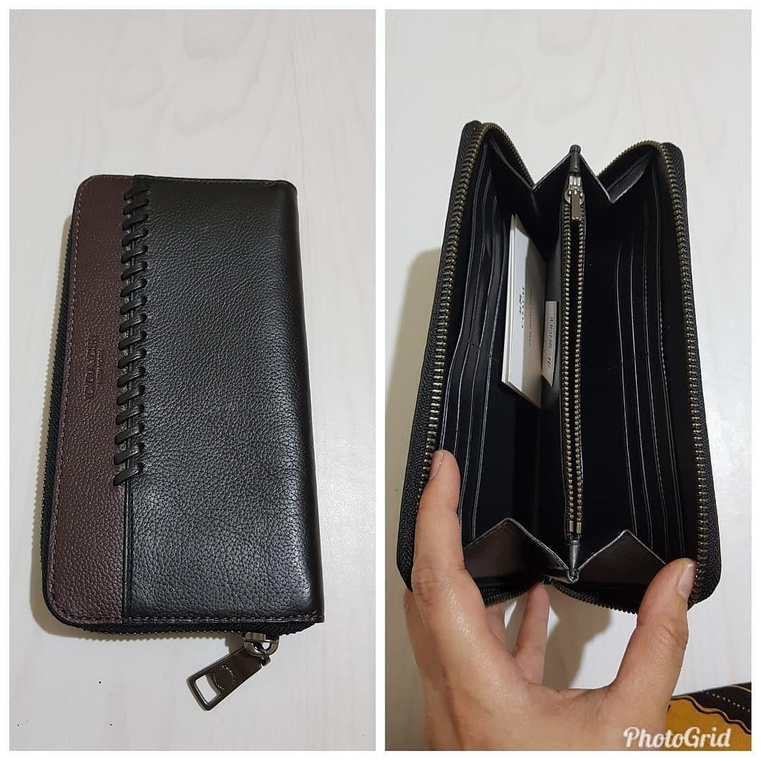 Coach Baseball Zip Wallet