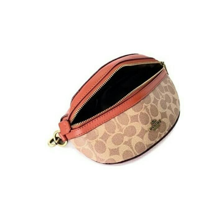 COACH Belt Bag in Signature / Tas Pinggang COACH Original Murah / Tas Branded Murah