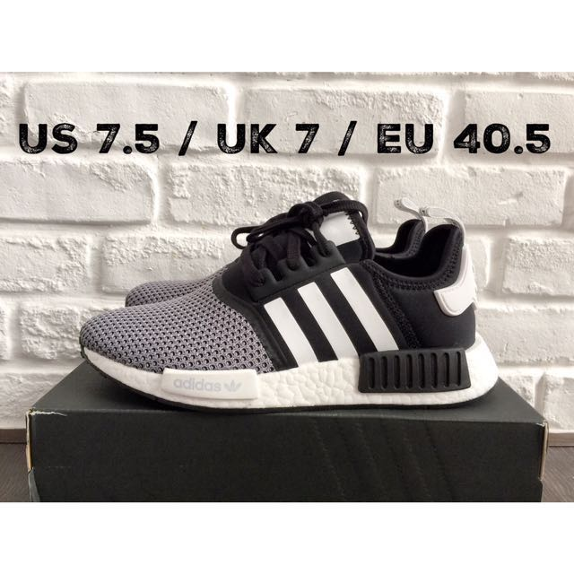 size 40 7d012 fa42b [EUROPE EXCLUSIVE] Adidas NMD R1 Runner Black White Silver