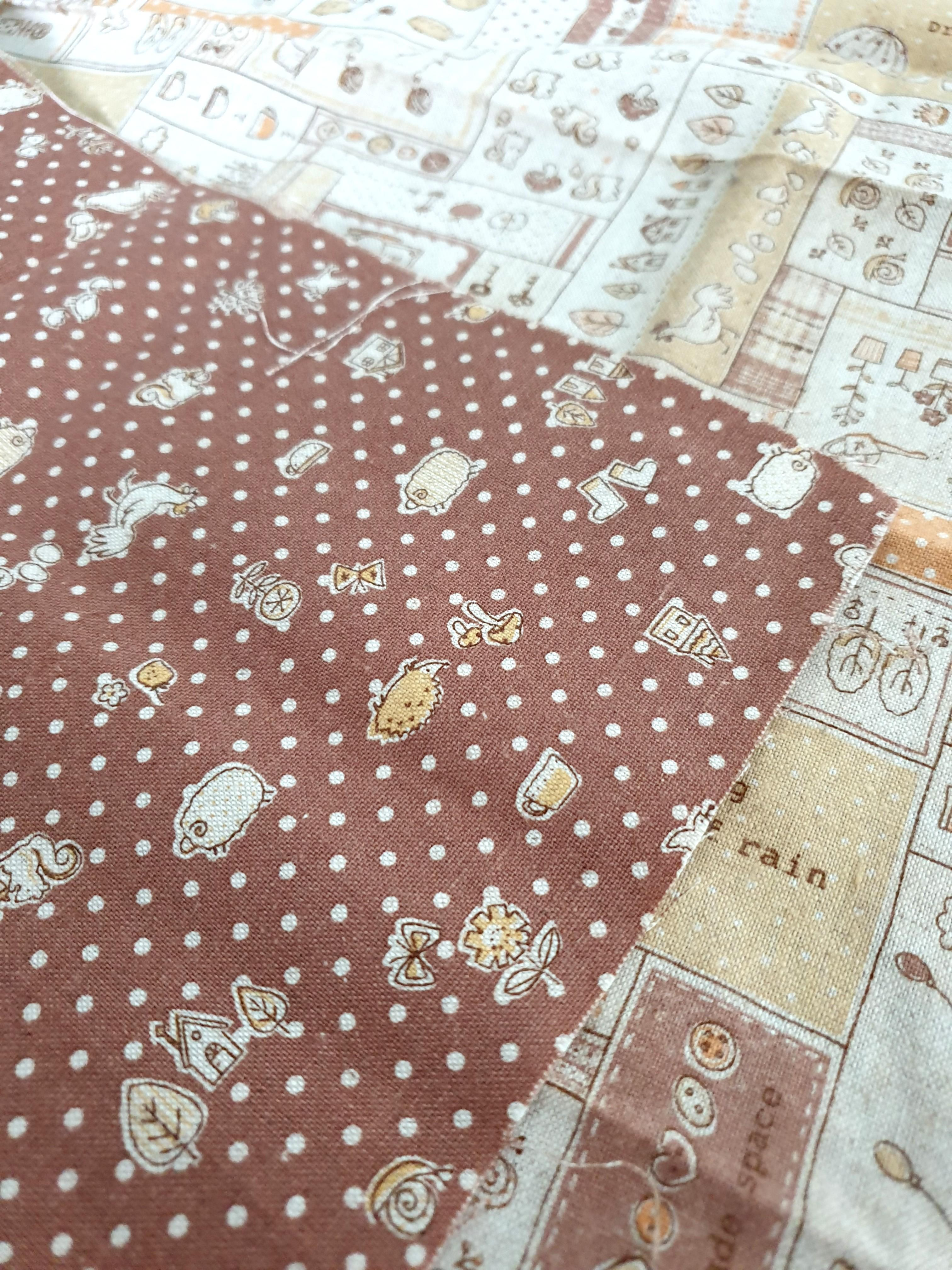 Everyday life double-sided print fabric (55 x 53cm) DESTASH