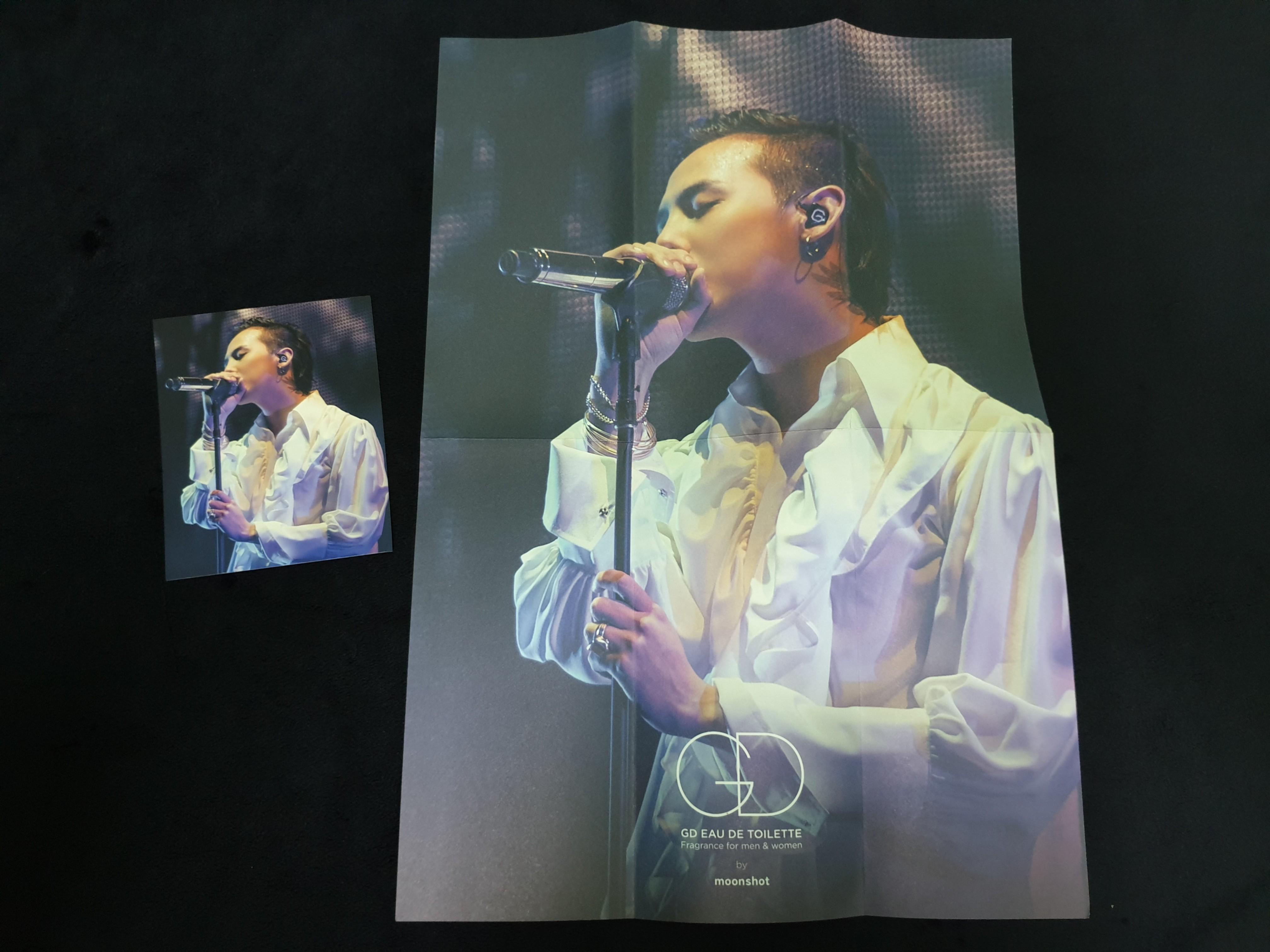 BIGBANG G-Dragon Mini Poster (Folded) & Photocard for Moonshot Eau de Toilette