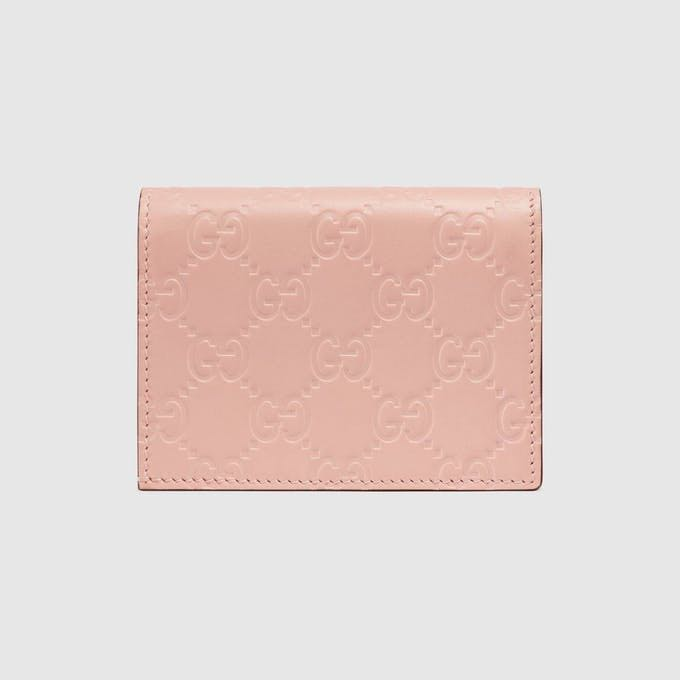 finest selection b2f16 a856d Gucci Signature card case with cat (Wallet)