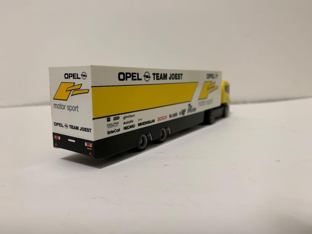 Herpa 1/87 Scania 車頭 + Opel Team Joest 貨桇