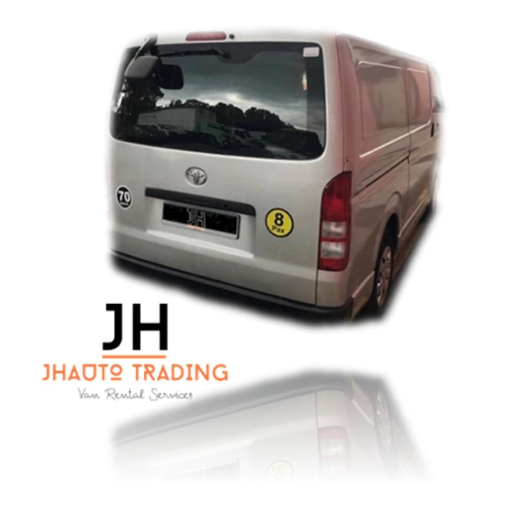 HIACE FOR RENT / LEASE