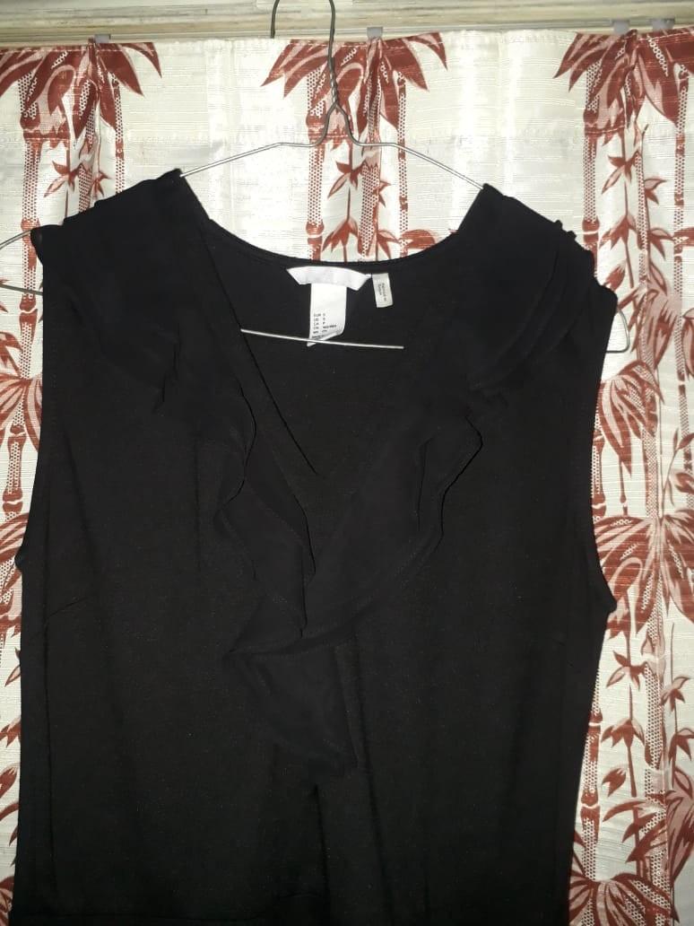 H&M Dress V-neck Lengan Buntung