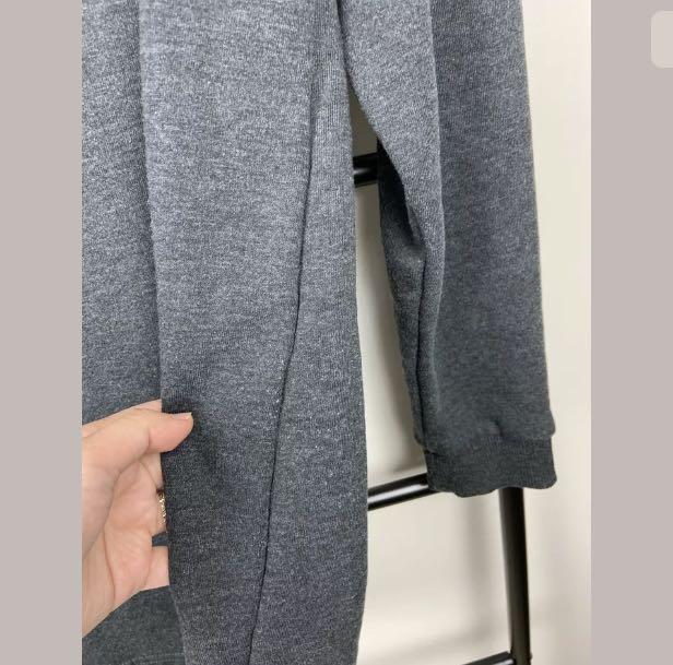 H&M sz S/M grey basic jumper dress tunic top shirt sweater winter cotton blend