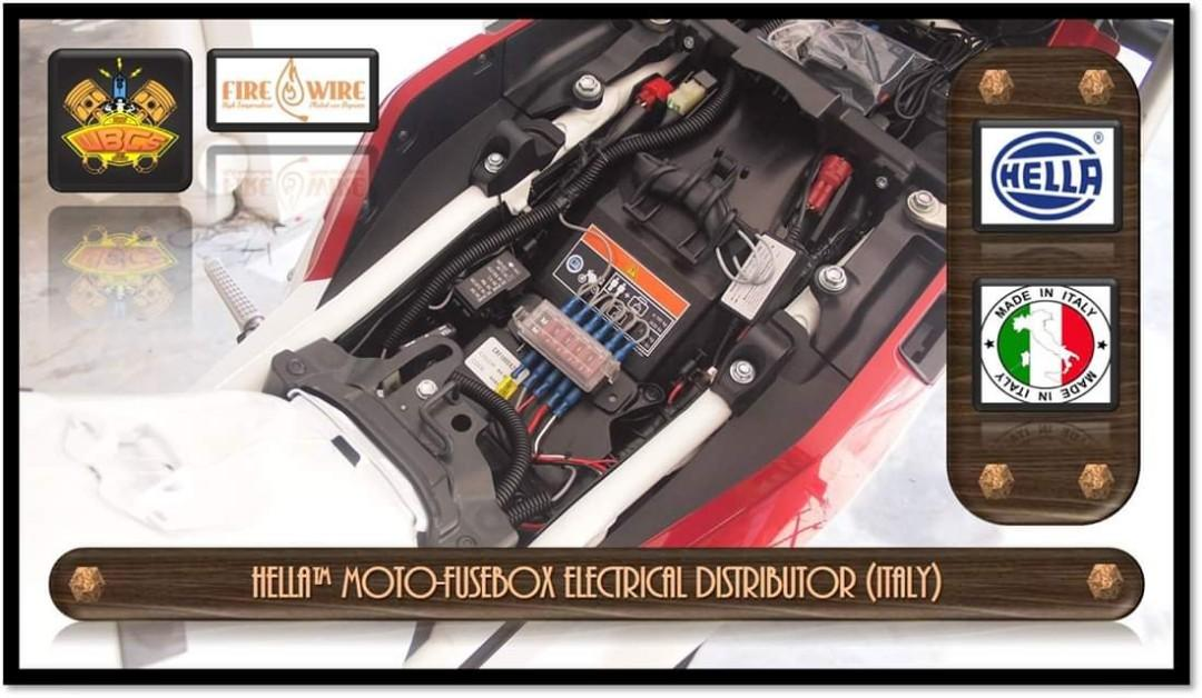 HONDA CFR1000L AFRICA TWIN 2017 to Present Project with HELLA MOTO-FUSEBOX