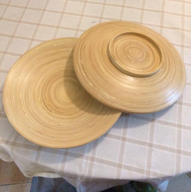 IKEA Bamboo plates, Furniture, Others on Carousell