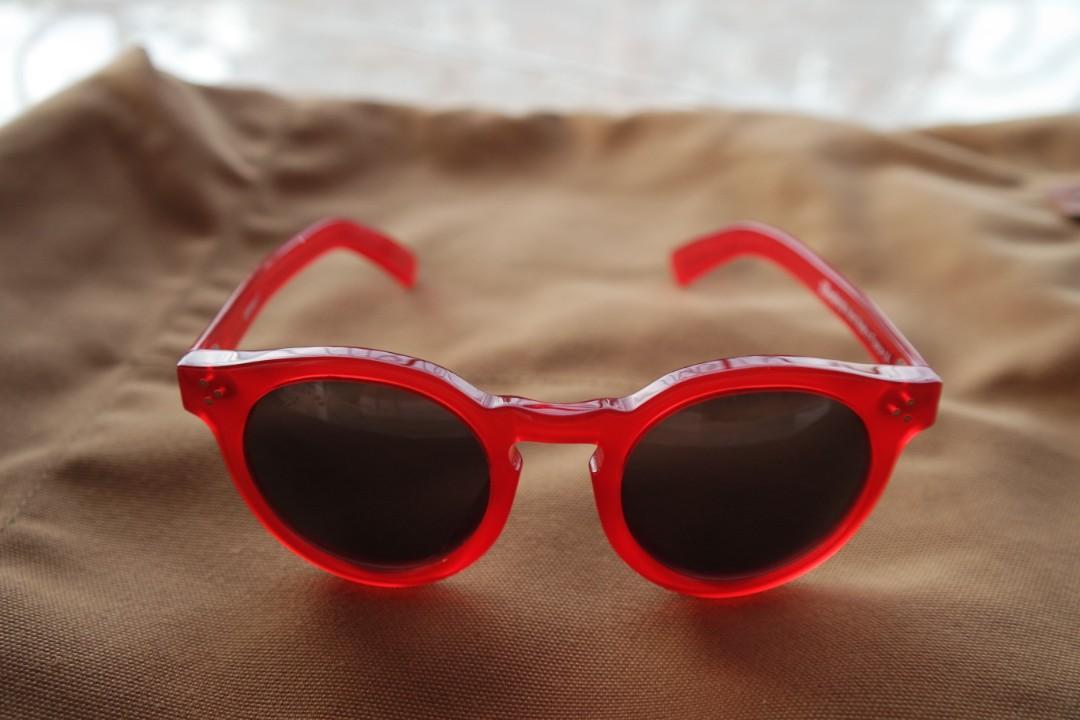 Illesteva Leonard II Red Sunglasses bukan Acne Studio Kacamata
