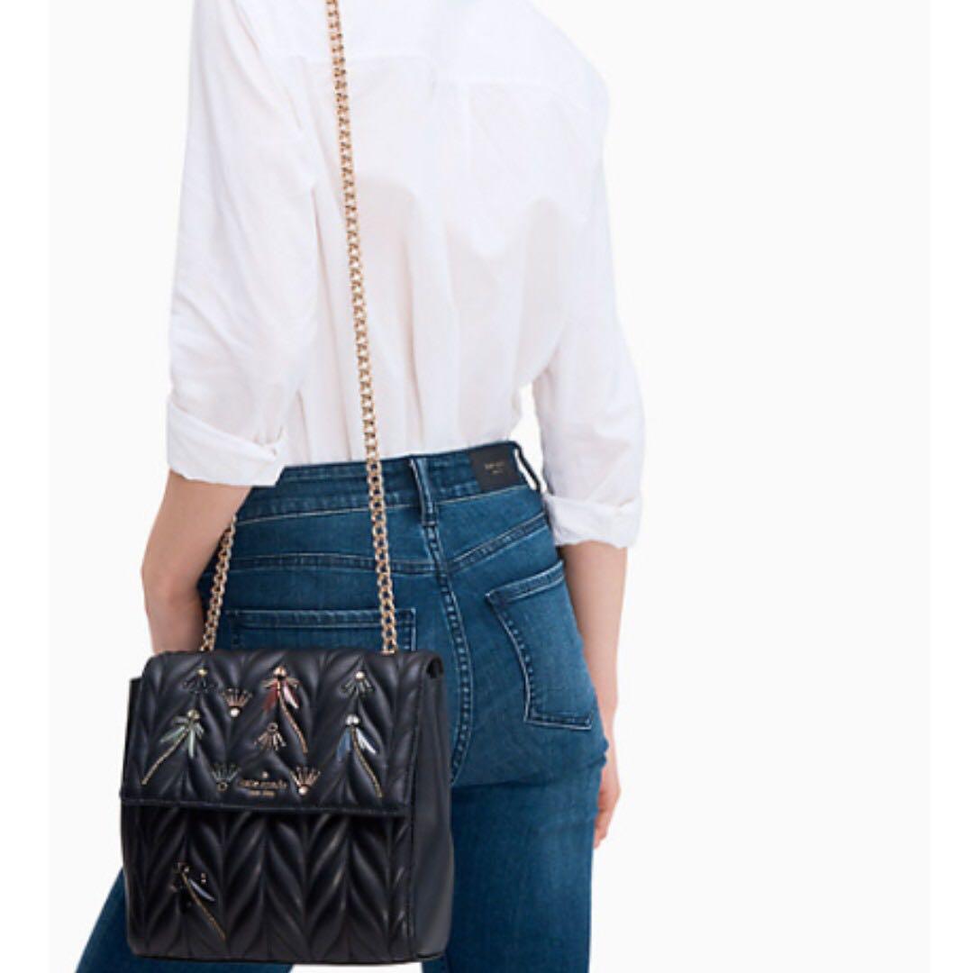 (INSTOCK) Authentic Kate Spade WKRU5707 Briar Lane Quilted Dragonfly Brayden Backpack Sling Crossbody Bag