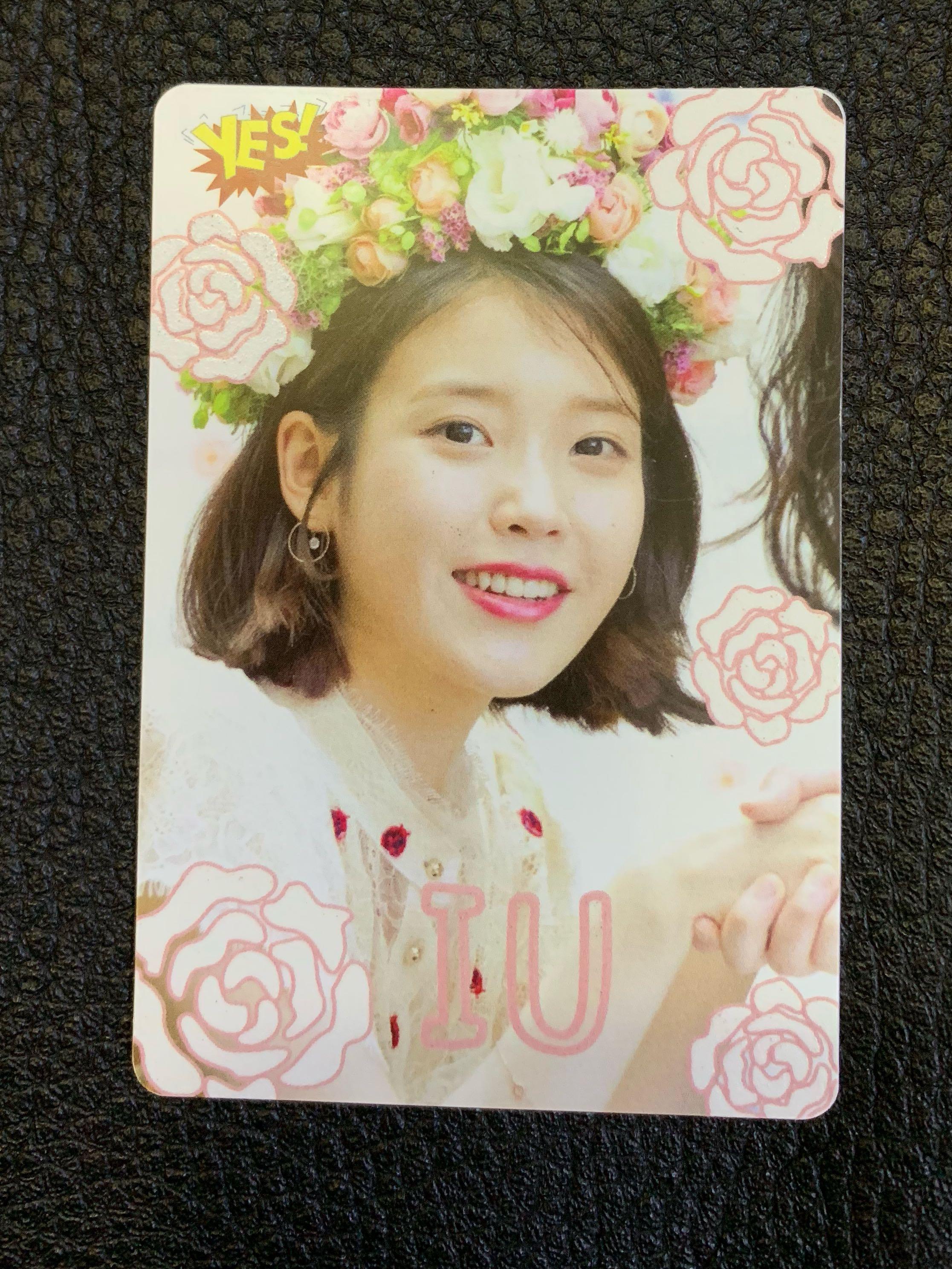 IU yes card 夜光