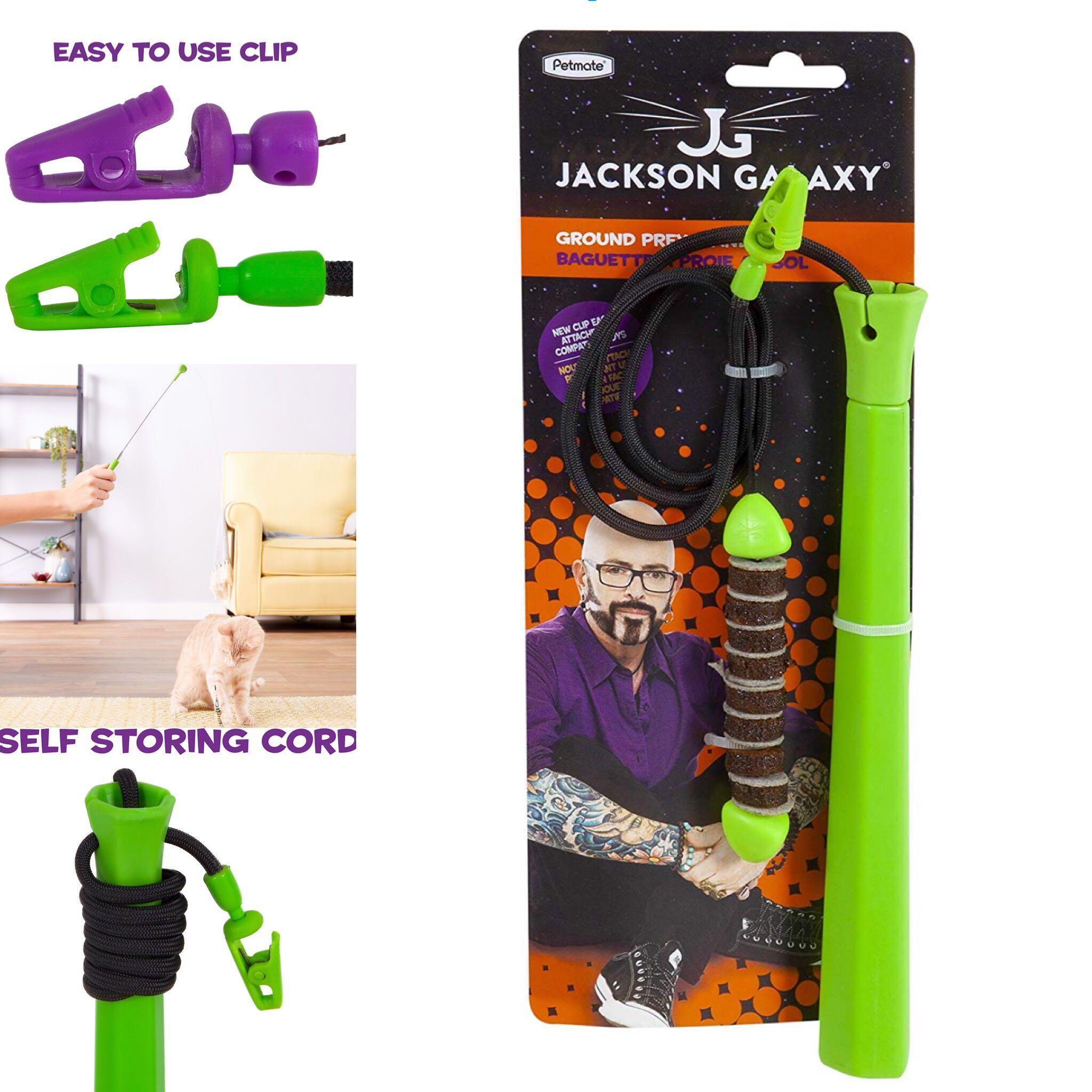 Jackson Galaxy Mojo Maker Ground Prey Wand Teaser Cat Toy
