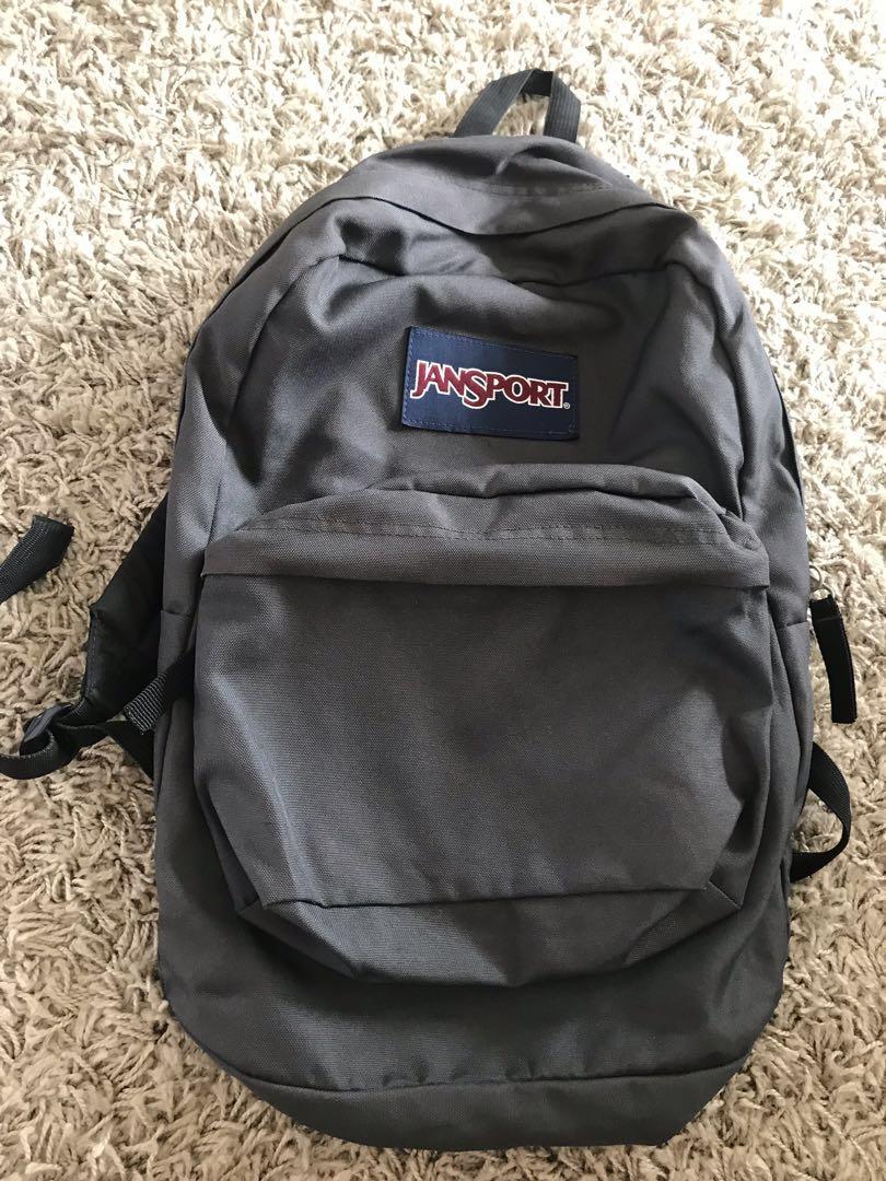 JANSPORT backpack (grey) , Men's Fashion, Bags & Wallets