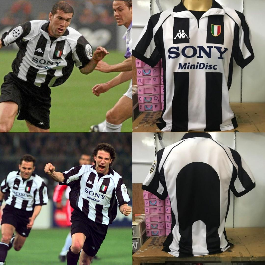 detailed look 0ed94 e9a0e Juventus 1998 Home Kit Retro Shirt Sony Minidisc, Sports ...
