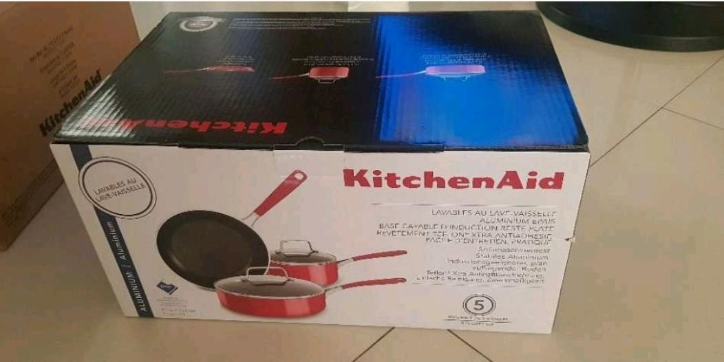 KitchenAid KC2AS05BER Cookware - Empire Red 5 pcs