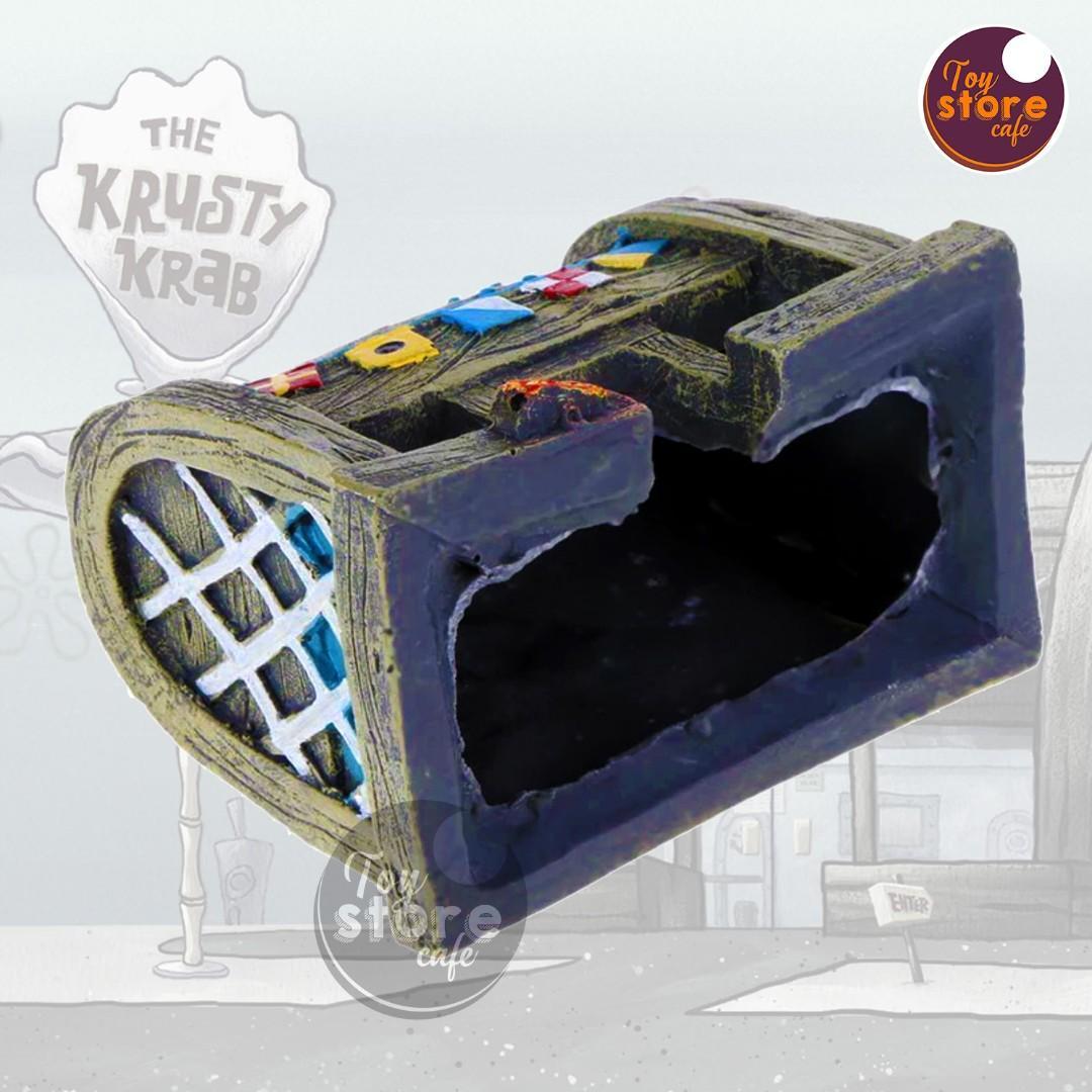 Krusty Krab - Aksesoris Aquarium - Aksesoris Akuarium - Pajangan meja
