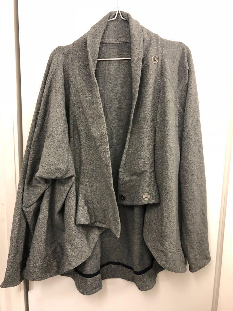 Lululemon cocoon sanvansa wrap grey snap cardigan jacket  US 4