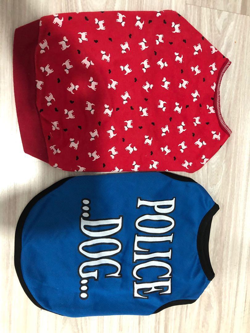 Medium sized Dog shirt (2pcs)