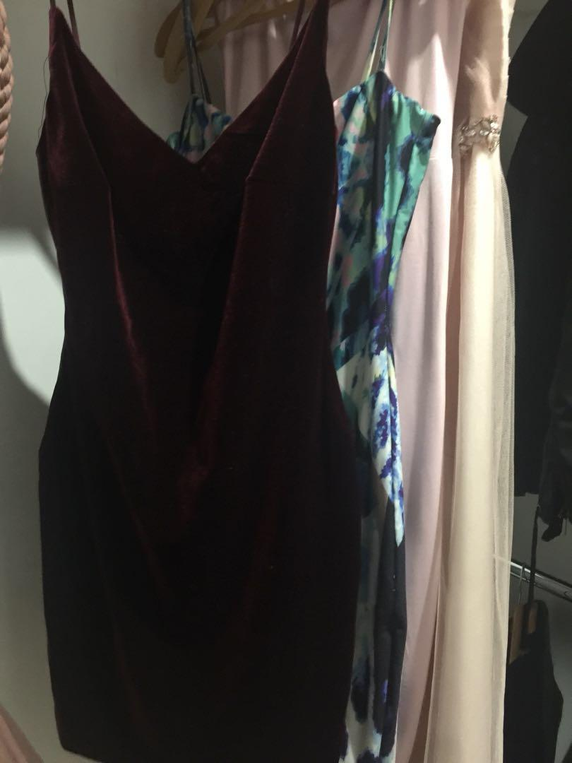 meshki burgundy dress