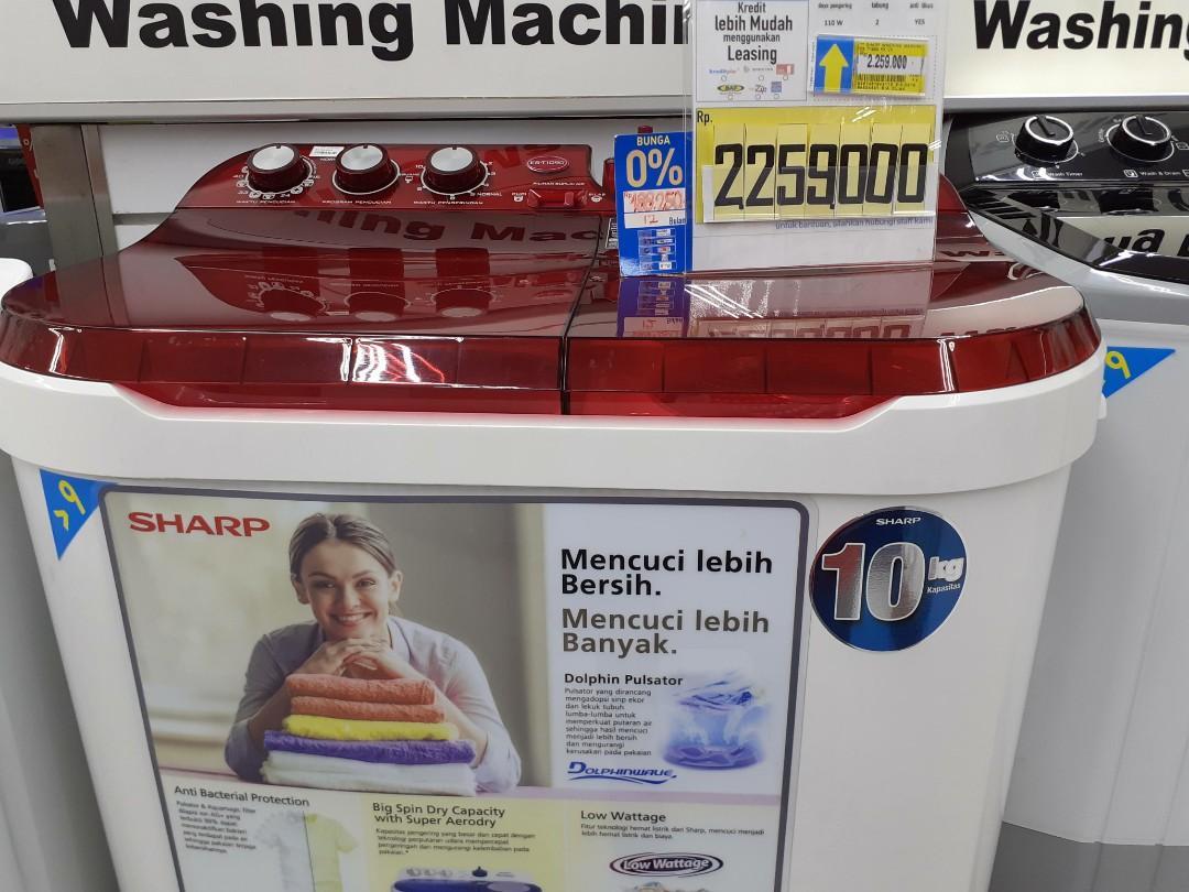 Mesin Cuci Sharp 9Kg Kredit Cepat Tanpa DP