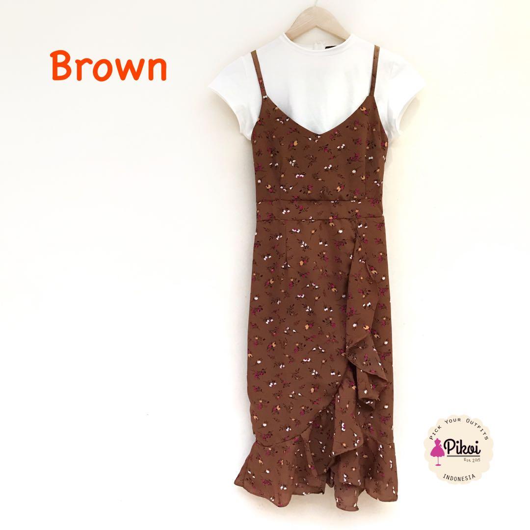 Mididress / Camisole dress / gaun panjang / dress summer / sleeveless dress pantai / 1873