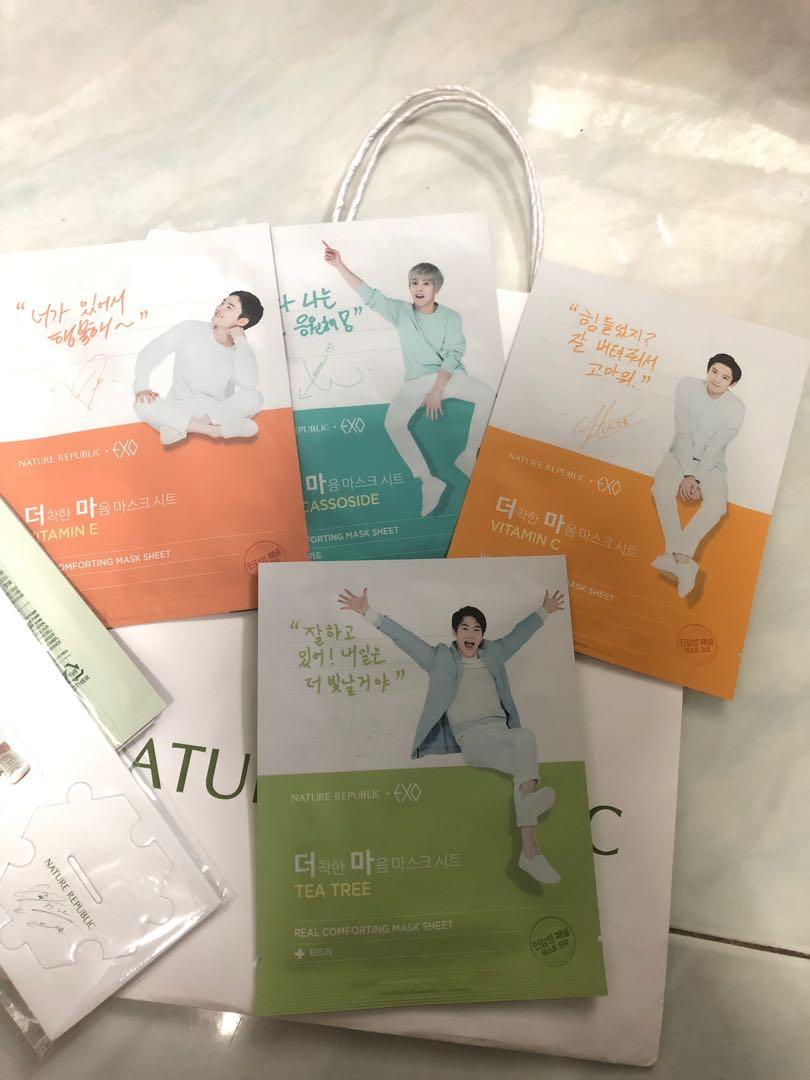 Nature Republic Exo Edition Sheet Mask Bundle