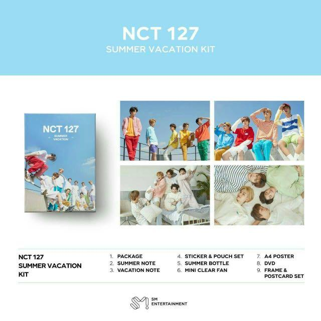 NCT 127 SUMMER VACATION KIT - VACATION NOTE WTS