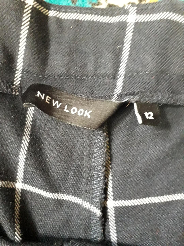 new look navy blue plaid pants