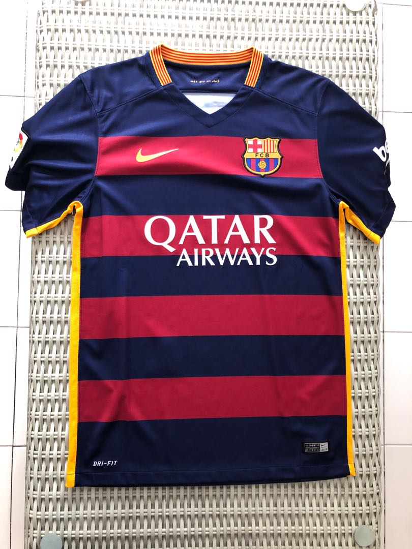 05d0eb7b589 Nike 💯% Authentic Barcelona home jersey for SGD$42 (size S), Sports ...