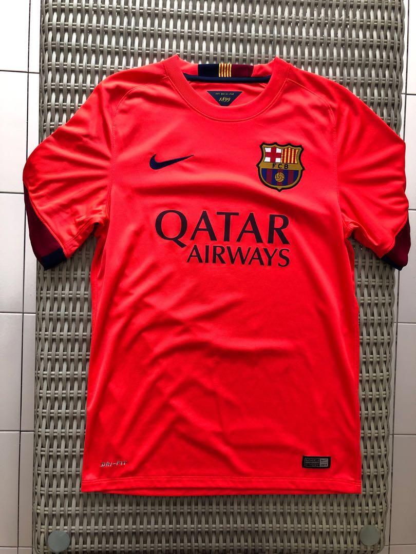 8cb4d0bdf69 Nike 💯% Authentic orange Barcelona away jersey w  Suarez 9  nameset ...