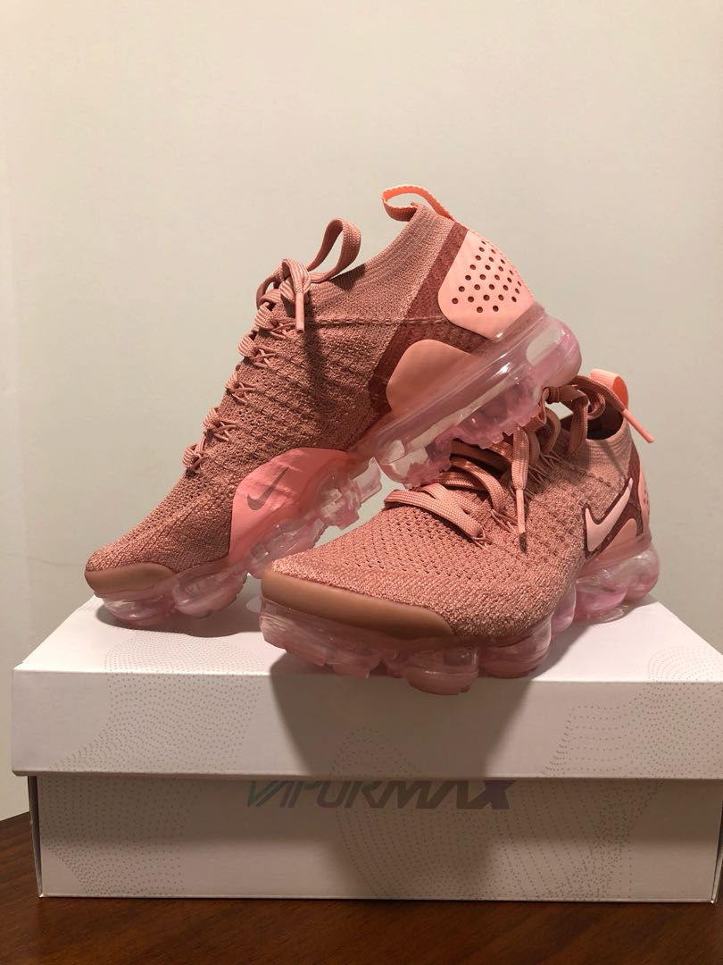 4193894cb1 Nike Air Vapormax Flyknit 2 UK 4 US 6.5 Rust Pink, Women's Fashion, Shoes,  Sneakers on Carousell
