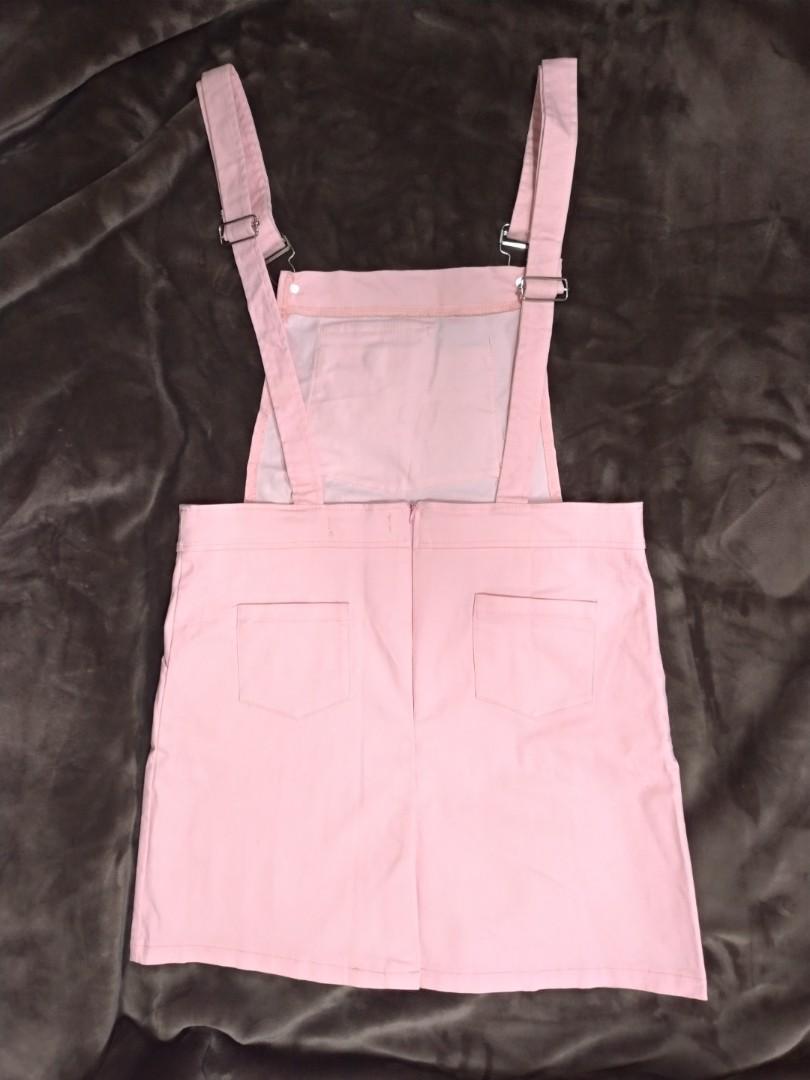 【全館兩件免運!!】全新 粉紅色 吊帶裙 連身裙