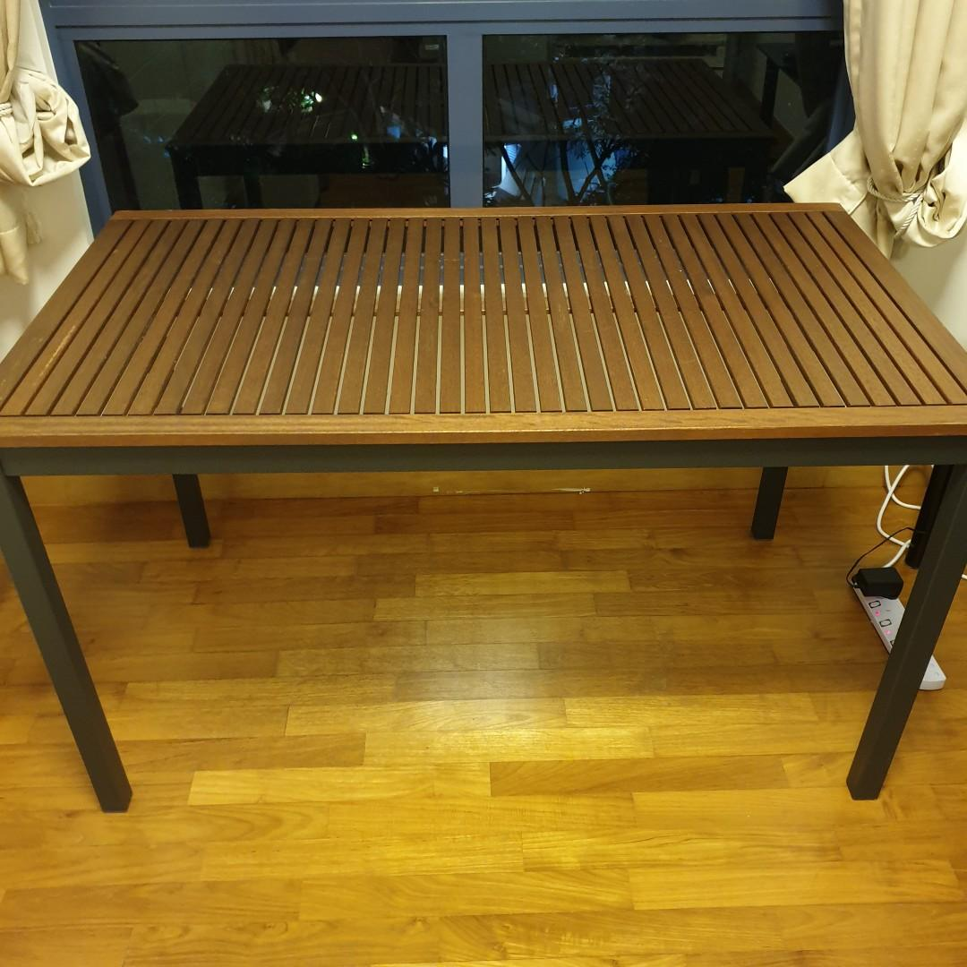 Outdoor IKEA table.