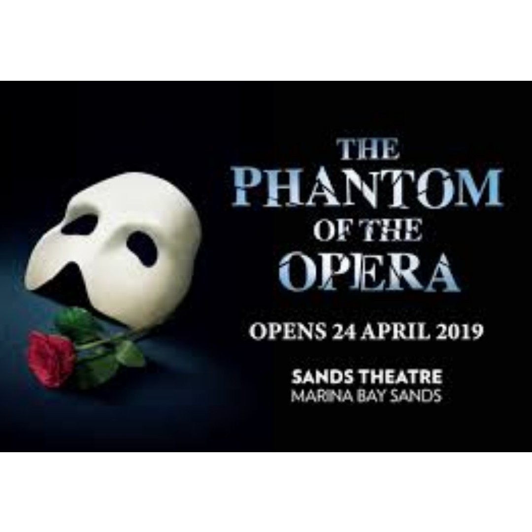 Phantom of the Opera: 3 x A Reserve Dress Circle Tickets, Fri, 24 May 2019