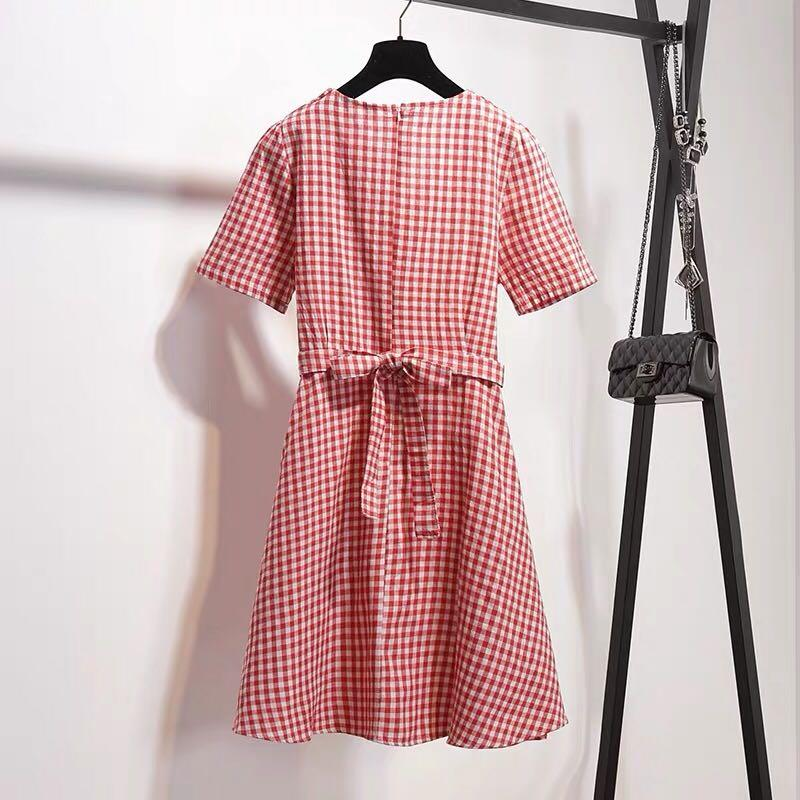 Plus Size Red Gingham Dress
