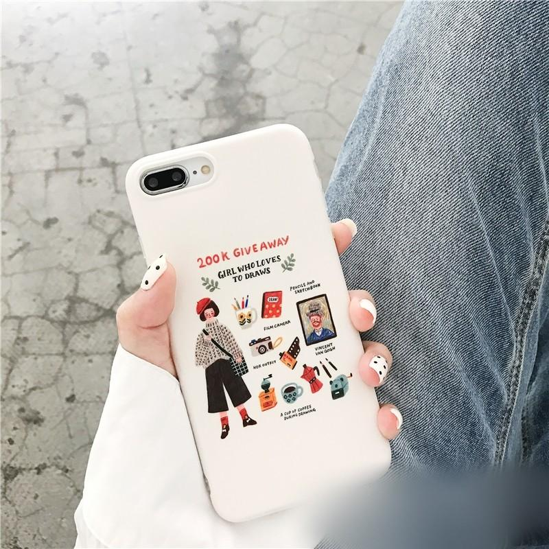 [PO] Girl Who Loves to Draw iPhone Cover