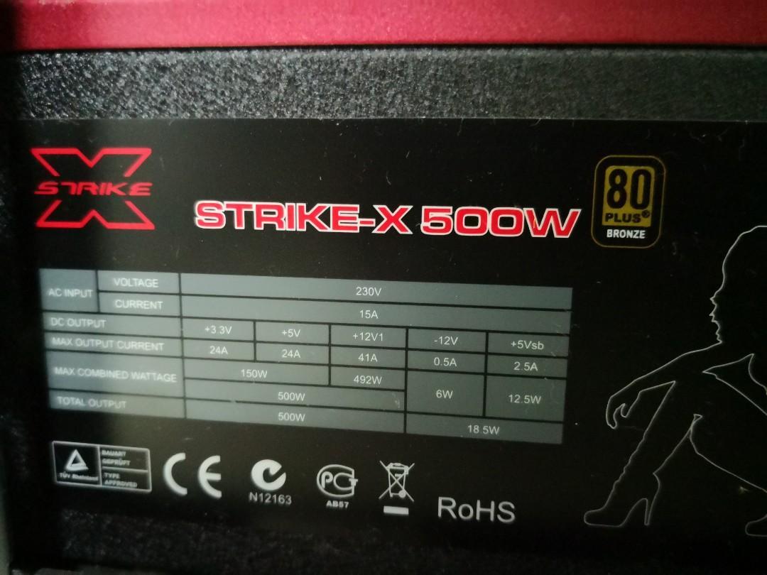 Strike X 500w PSU