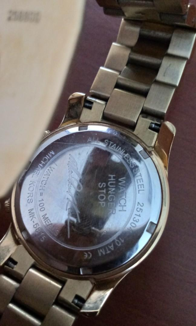 Preloved Michael Kors Watch Hunger Stop Edition