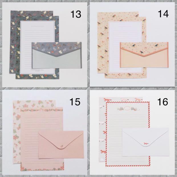 Pretty & cute letter/envelope/paper set